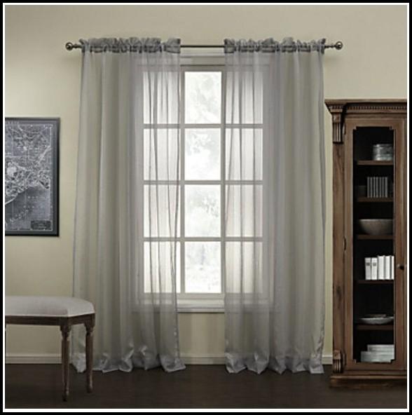 Gray Sheer Curtain Panels