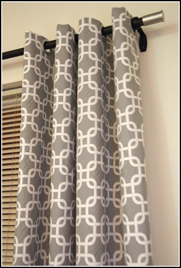 Gray White Curtain Panels