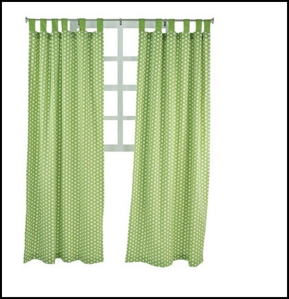 Green Polka Dot Curtain Panels
