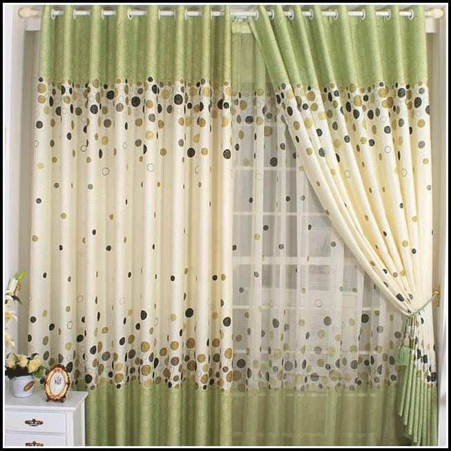 Sheer Green Polka Dot Curtains