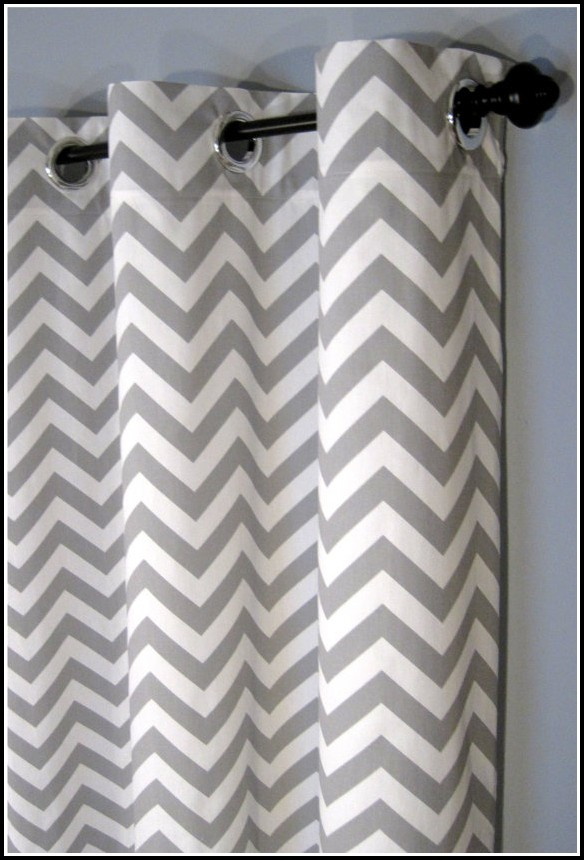 Grey And White Curtain Panel
