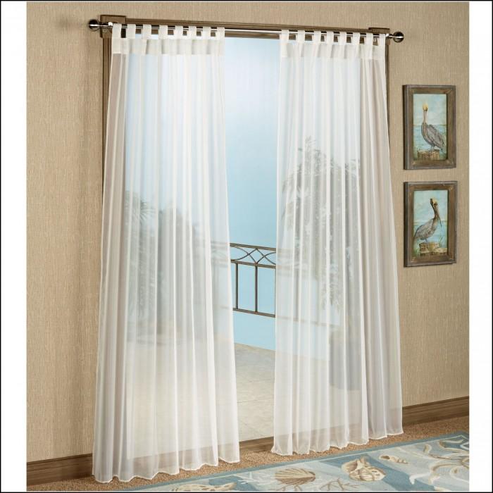 Grommet Top Semi Sheer Curtains