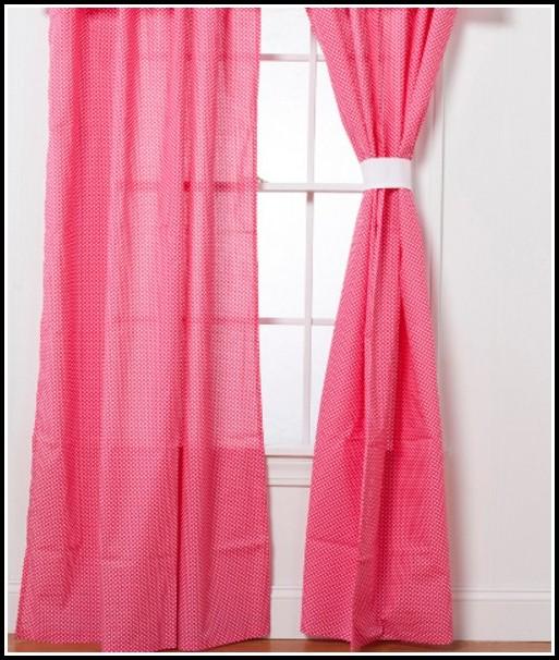 Hot Pink Sheer Curtain Panels