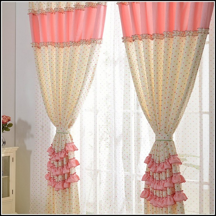 Hot Pink White Polka Dot Curtains