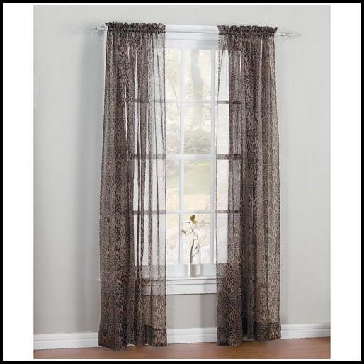 Leopard Print Sheer Curtain Panels