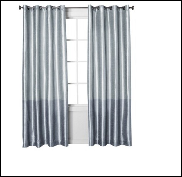Light Blue Faux Silk Curtains