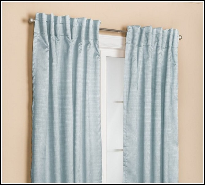Light Blue Tab Top Curtains