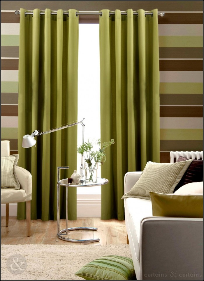 Lime Green And Brown Eyelet Curtains Curtains Home