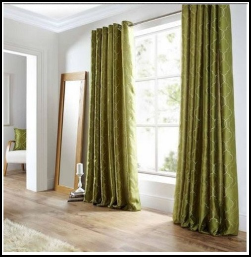 Dark Green Faux Silk Curtains Curtains Home Design
