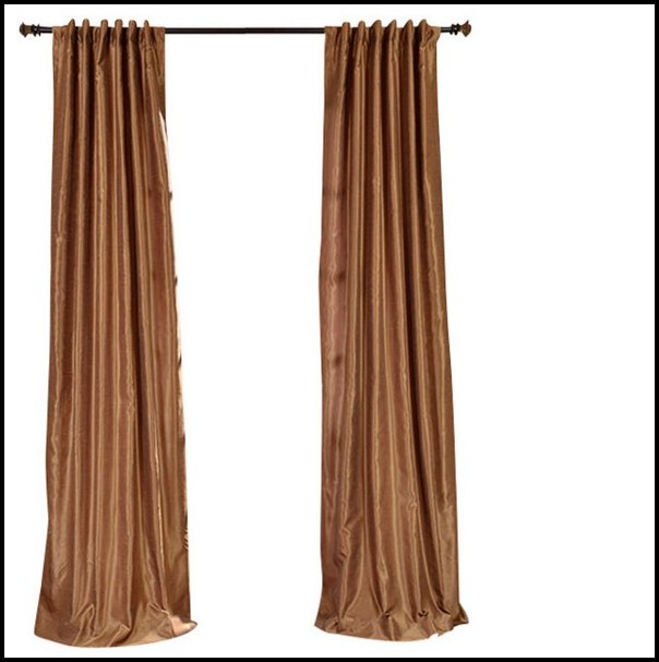 Linea Faux Silk Gold Curtains