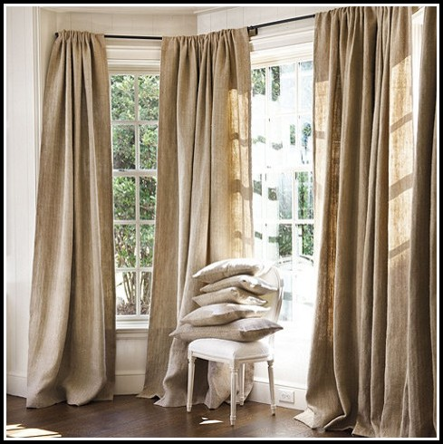 Making Burlap Curtains With Grommets