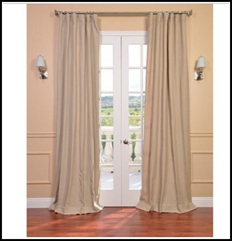 Natural Linen Blend Curtain Panel