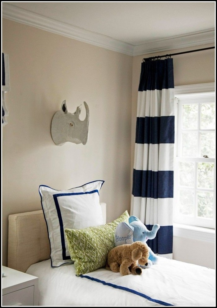 Navy Blue And White Ikat Curtains