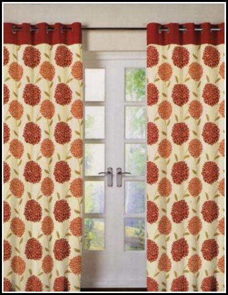 Orange And Red Shower Curtains