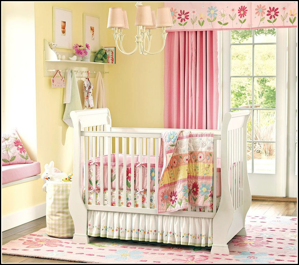 Pink And Yellow Nursery Curtains