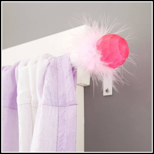 Pink Crystal Curtain Rod Finials