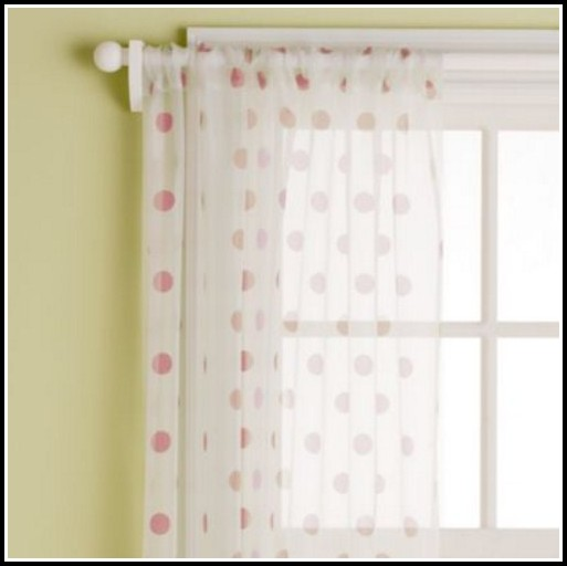 Pink Polka Dot Curtain Panels
