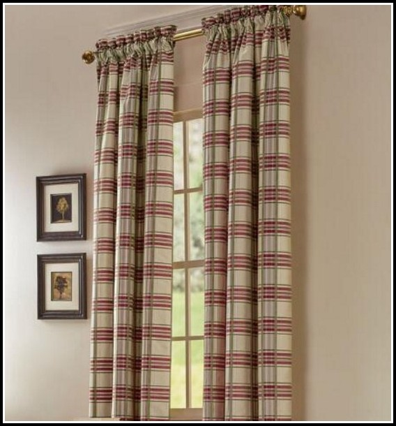Plaid Curtains And Drapes