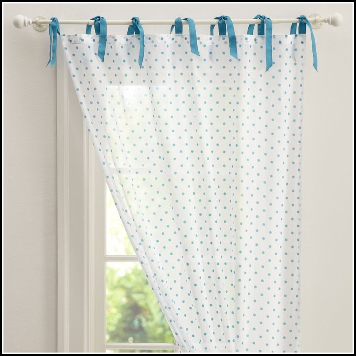 Polka Dot Sheer Curtain Panels