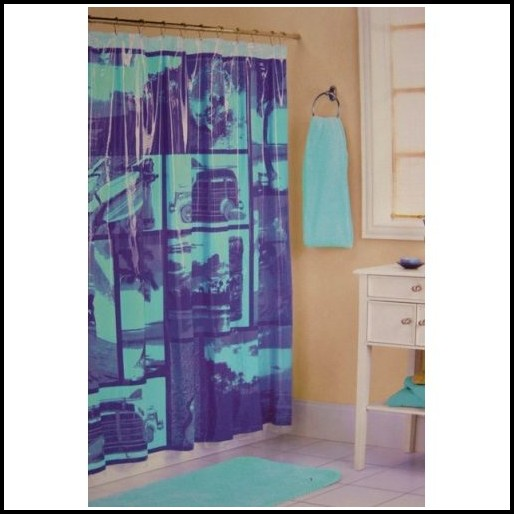 Purple And Blue Shower Curtains