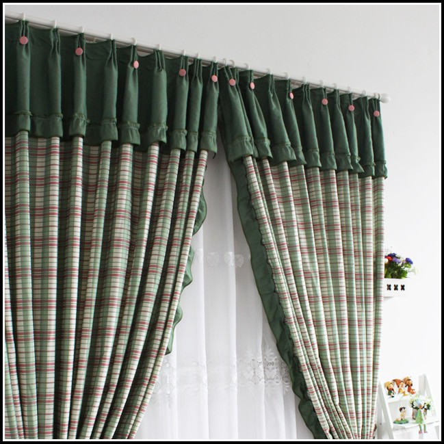 Red And Green Plaid Curtains