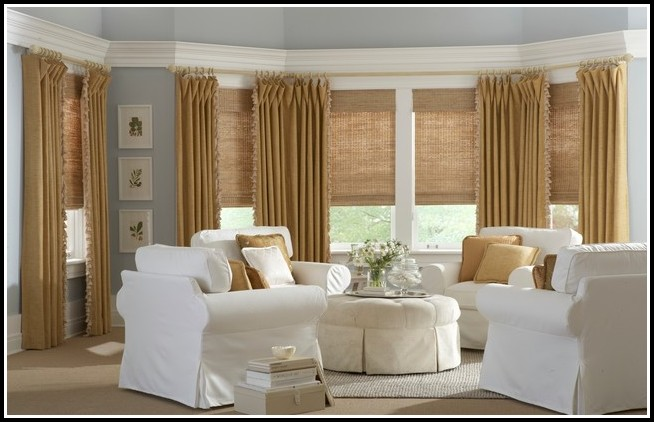 Roman Shades And Curtains Together