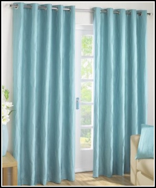 Royal Blue Faux Silk Curtains