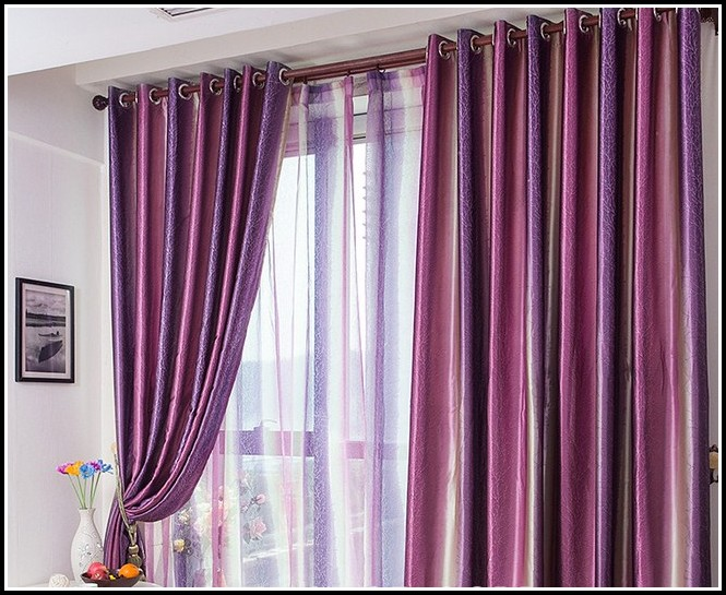 Sage Green And Purple Curtains