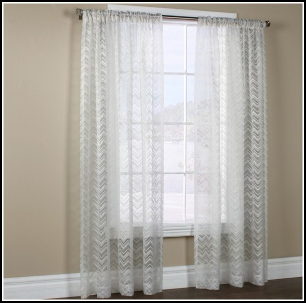Semi Sheer Rod Pocket Curtains