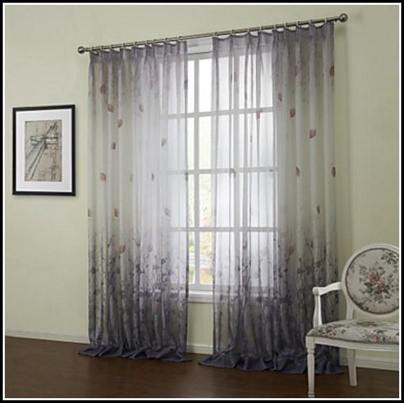 Semi Sheer Tab Top Curtains