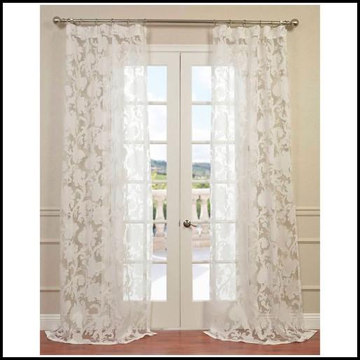 Semi Sheer White Curtain Panels