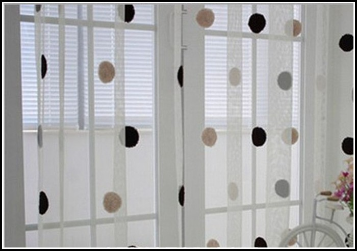Sheer Black And White Polka Dot Curtains