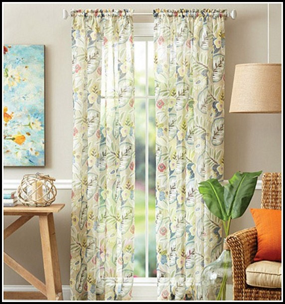 Sheer Curtains Diamond Pattern