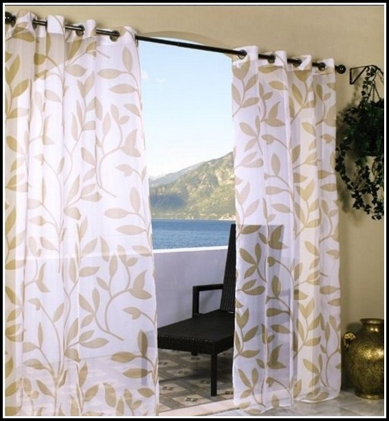 Sheer curtains with geometric pattern curtains home for Patterned sheer curtain panels