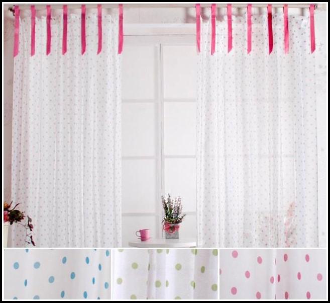 Sheer Polka Dot Curtain Panels