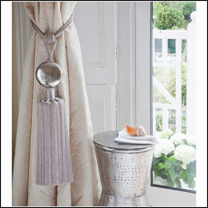 Silver Tassel Curtain Tie Backs