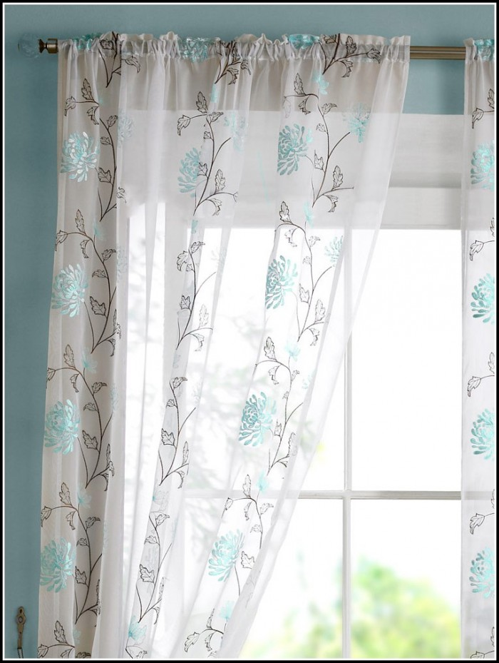 Slate Blue Faux Silk Curtains