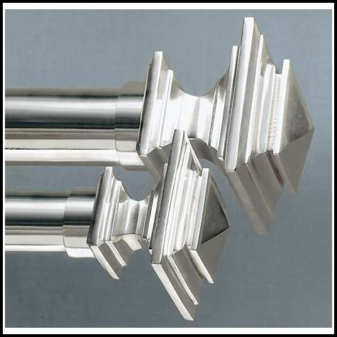 Square Crystal Curtain Rod Finials