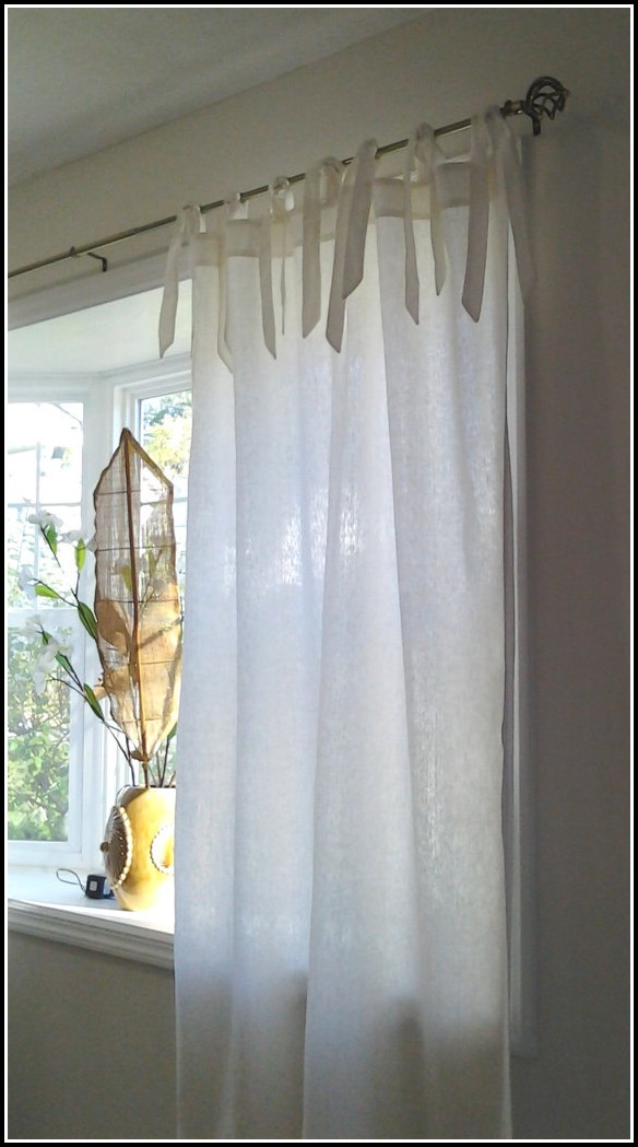 how to clean sheer curtains