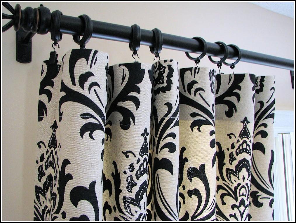 Waverly Curtains Black And White Damask