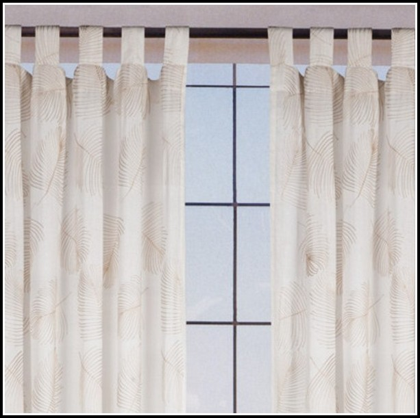 White Linen Tab Top Curtains