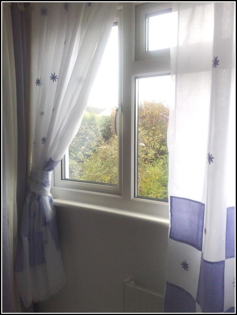 White Linen Tie Top Curtain Panel