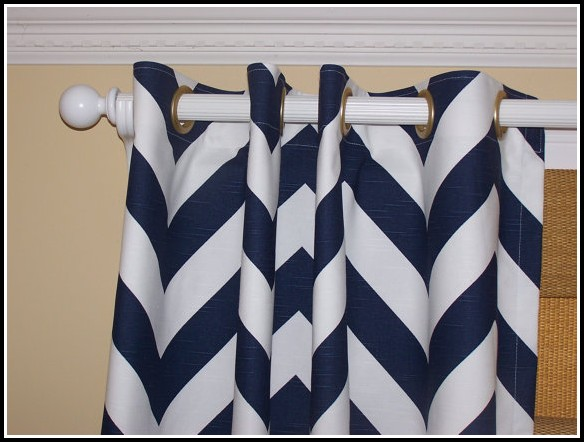 White On White Chevron Curtains