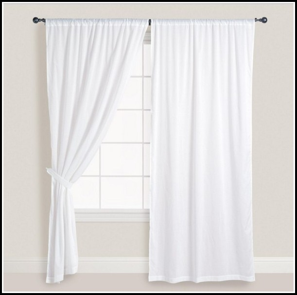 White On White Cotton Curtains
