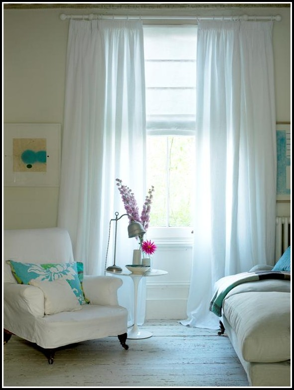 White On White Sheer Curtains