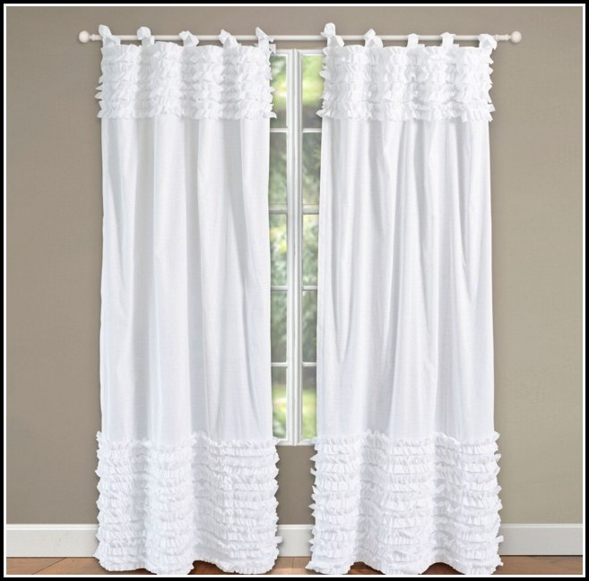 White Tab Top Kitchen Curtains