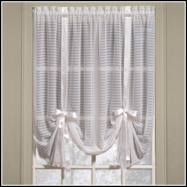 White Tie Top Sheer Curtains