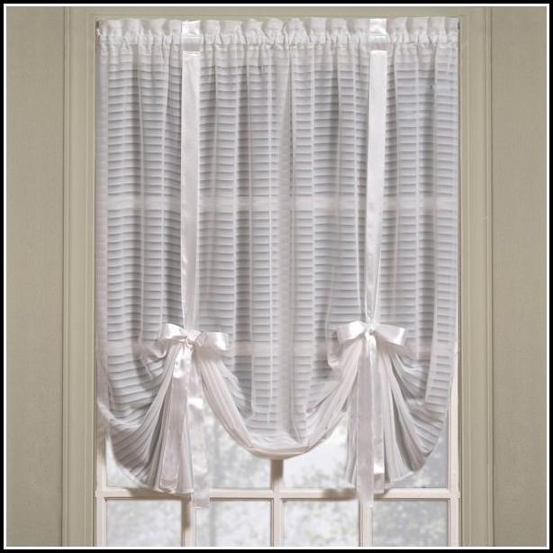White Sheer Curtains Tie Top Curtain Menzilperde Net