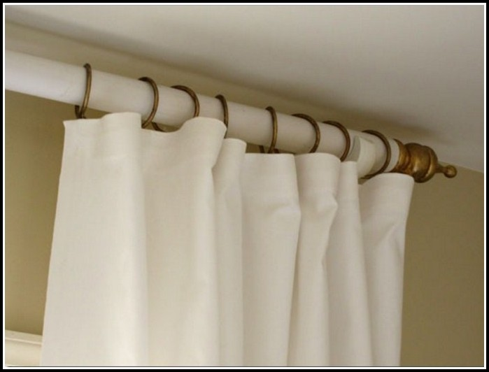 White Wood Curtain Rods Finials