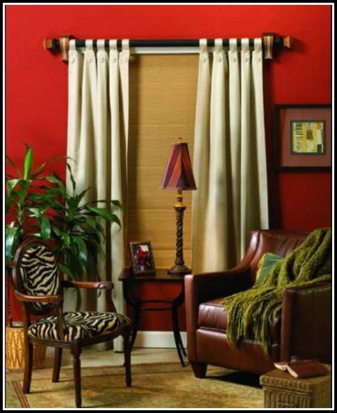 White Wooden Double Curtain Rods